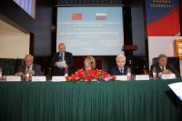 Директор РКЦ Виктор Коннов открывает российско-китайский инновационный форум