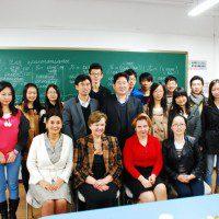 Со студентами и преподавателями Университета бизнеса и экономики