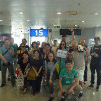 Китайская делегация перед вылетом в Москву