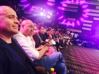 出席开幕式的俄罗斯电影工作者团队Группа российских кинематографистов на церемонии открытия