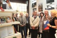 Гости знакомятся с выставкой, посвященной М.Ю. Лермонтову