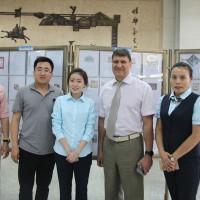 Фотография с организаторами выставки