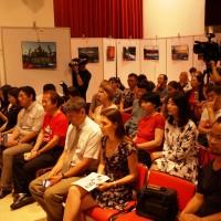 与电影工作者见面的媒体代表和俄罗斯电影爱好者Представители СМИ и любители российского кино на встрече с кинематографистами