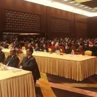 来自40个国家代表参加开幕式招待会Участники церемонии открытия выставки, представители делегаций 40 стран