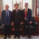 与北京大学校务委员会主任郝平的会面Встреча с председателем Совета Пекинского университета  Хао Пином