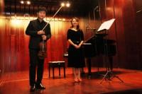 音乐会演奏者谢昊明(小提琴)和隋超(钢琴)Солисты концерта Се Хаомин (скрипка) и Суй Чао (фортепиано)
