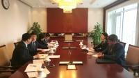 在中国教育部工作会谈期间В ходе рабочей встречи в Министерстве образования КНР