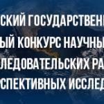 Международный конкурс научных грантов Московского педагогического государственного университета (МПГУ)