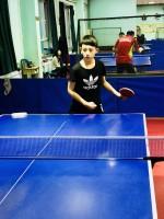 На соревнованиях по настольному теннису