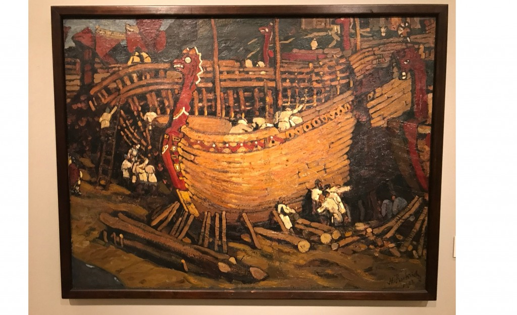 Картина Н.К. Рериха «Строят ладьи», 1903 год