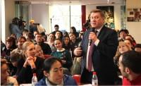 Мэр Новосибирска А.Е. Локоть приветствует участников диктанта