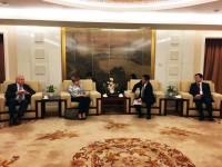 访问中国外交部 Посещение МИДа КНР