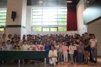 与小学生们的合影 Общее фото со школьниками