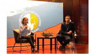 Дима Билан и Юлия Липницкая отвечают на вопросы СМИ и соотечественников
