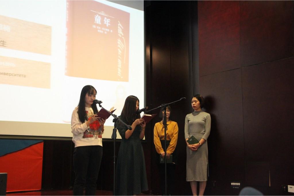 Выступление студентов СПУ