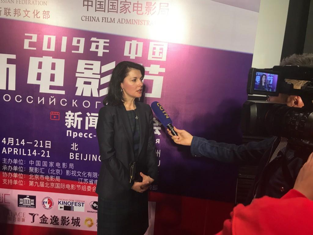 Интервью Ольги Мельниковой китайскому телеканалу CCТV