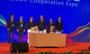 俄中高校合作签约 Подписание соглашений о сотрудничестве между российскими и китайскими вузами