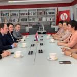 Встреча в Даляньском университете иностранных языков. 在大连外国语大学的会面