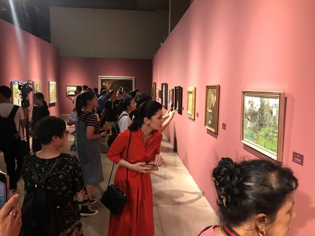 В галереях выставки