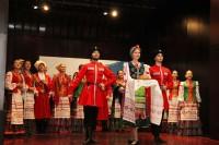 Артисты ансамбля в начале концерта