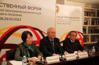 Участники прямого включения: г-жа Ли Цзяньминь, г-н Шэн Шилян, директор Российского культурного центра Виктор Коннов