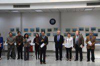 Проректор Университета Цю Мин приветствует представителей Российского культурного центра
