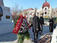 Торжественная церемония возложения венков к монументу воинам Красной Армии