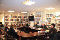 Участники круглого стола в Российском культурном центре