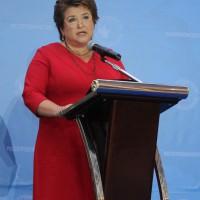 Руководитель Россотрудничества Любовь Глебова приветствует участников Форума