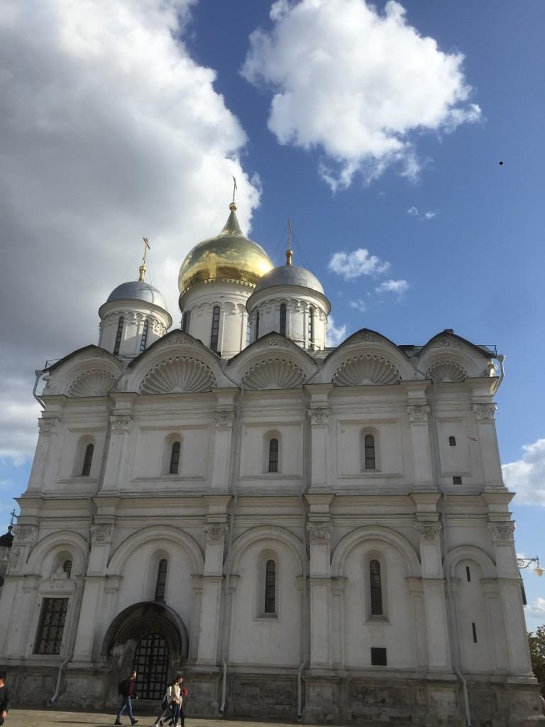 Посещение территории Московского Кремля